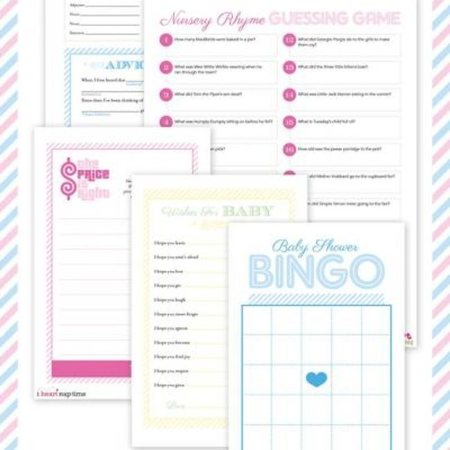 Free Printables Baby Shower Games: Pinterest