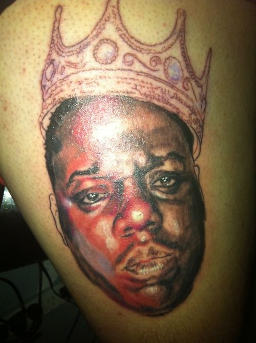 Notorious big daughter tattoo