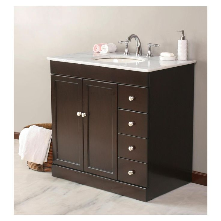 Basement bathroom simple vanity for the home pinterest