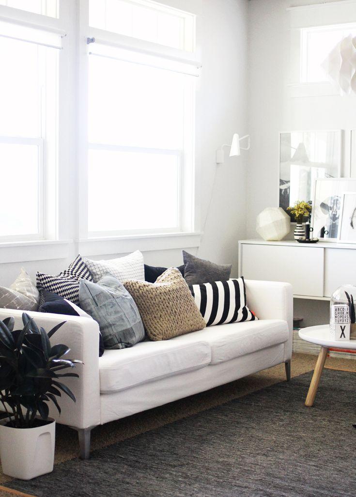 Versieren van kleine woonkamer met Grijs Tapijt