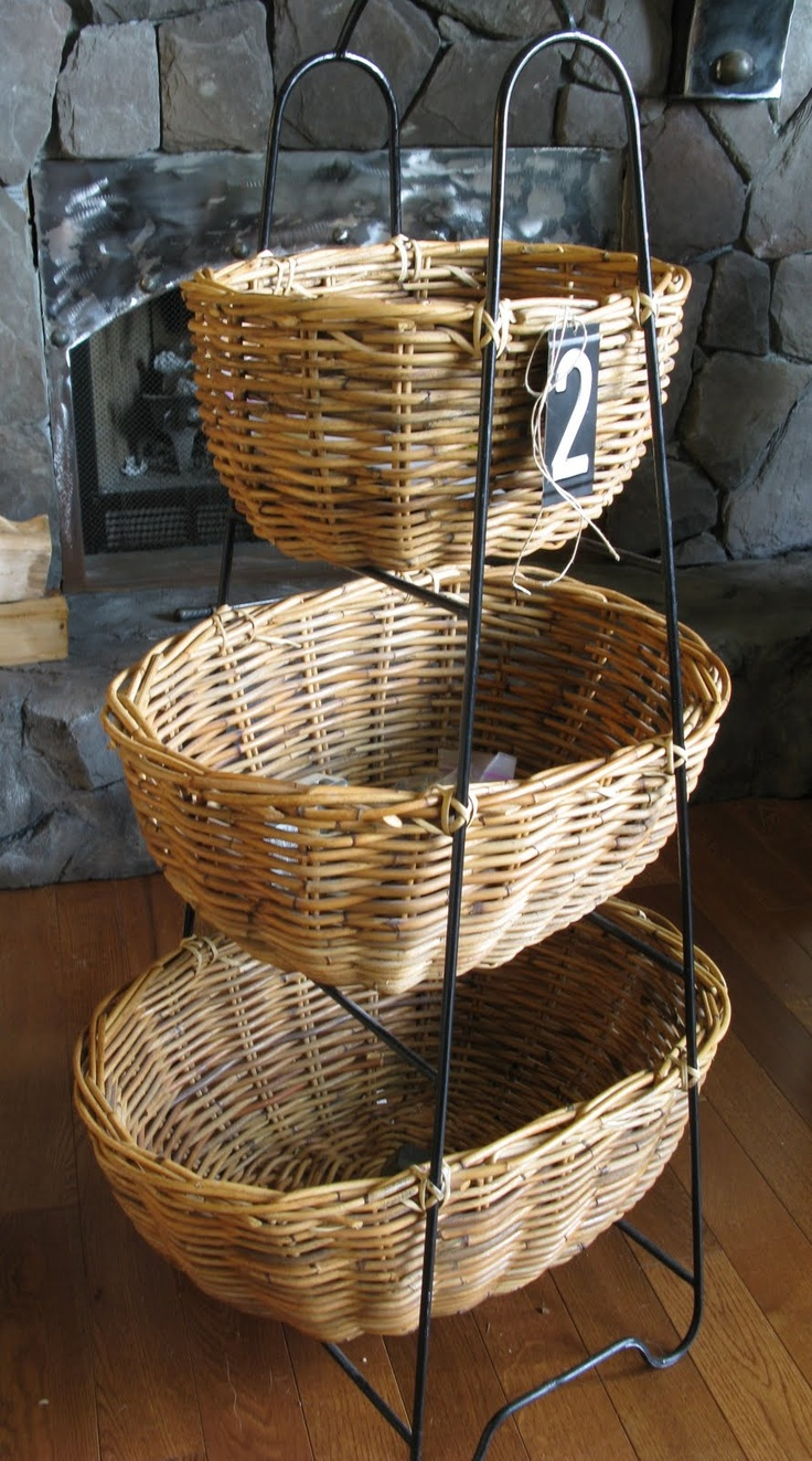 I have being eying a basket like this for YEARS. I have a vision for it in the dining room corner.