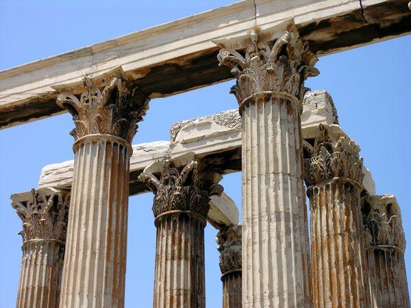 greek corinthian columns archaic architecture pinterest