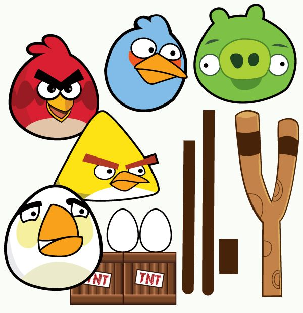 It is a photo of Soft Angry Bird Cut Outs