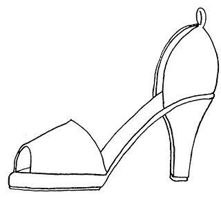 high heel paper shoe template | Gabarit | Pinterest