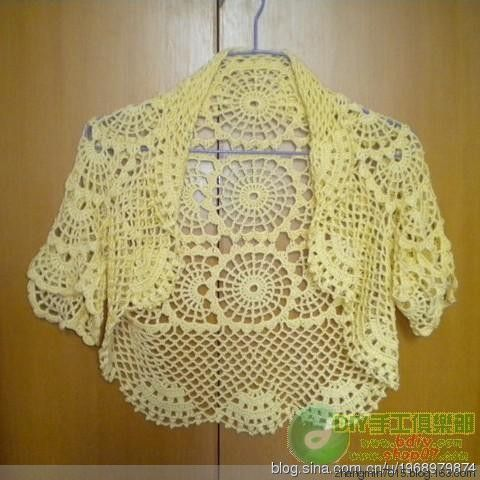 Beautiful fan-shaped flower sleeves waistcoat - lovely mum production process diagram - Hawthorn Xiuse - tea rhyme. Free pattern.