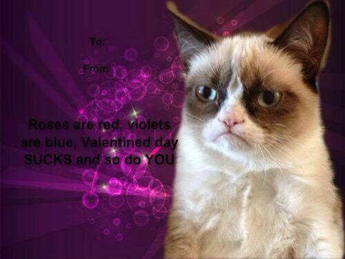 valentine card grumpy cat