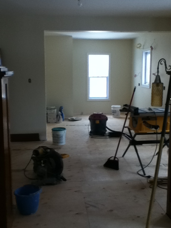 And the wall between kitchen and dining room comes down light light light give me light!!