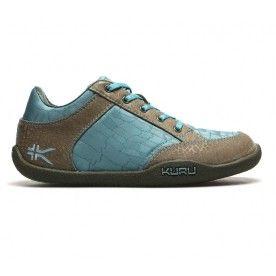 Kuru Shoes - Pika Leather/Mesh - Aqua & Gray