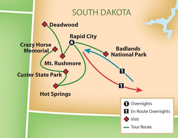 South Dakota Tour Map  Things To Share With SDS  Pinterest