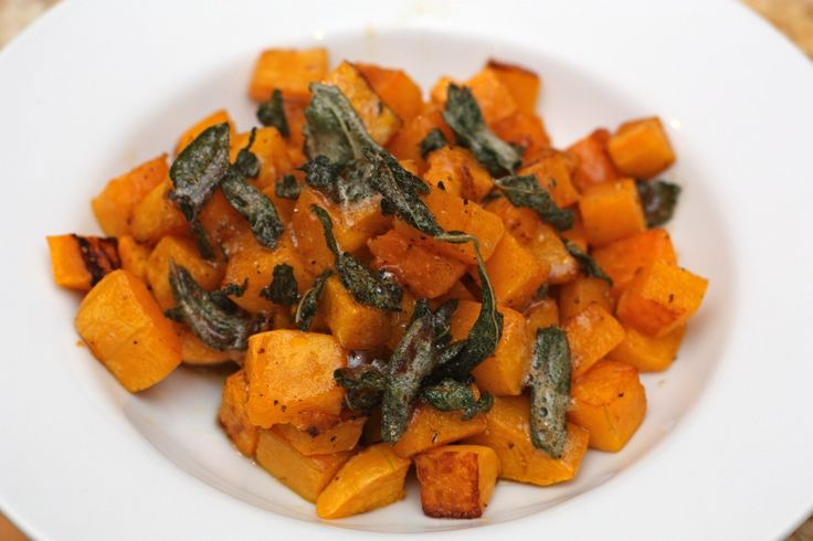 Roasted Butternut Squash with Maple Sage Brown Butter (refined sugar ...