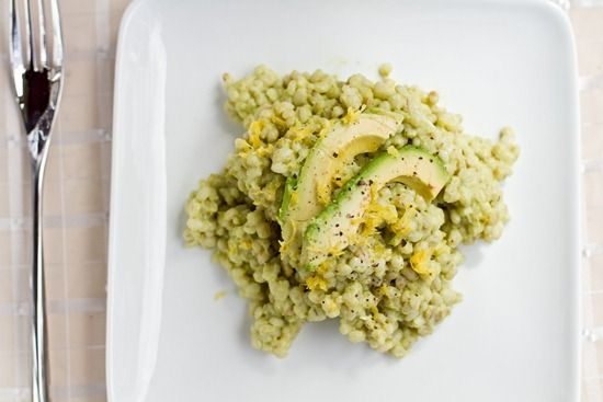 Creamy Avocado Barley Risotto : the only change I'd make is I'd sub ...