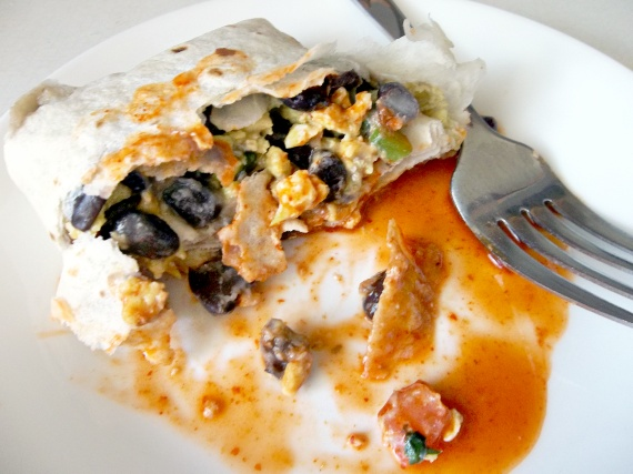 Black Bean Breakfast Burritos Recipe — Dishmaps