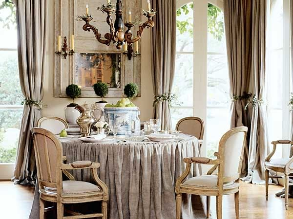 fancy tablecloth dining room pinterest
