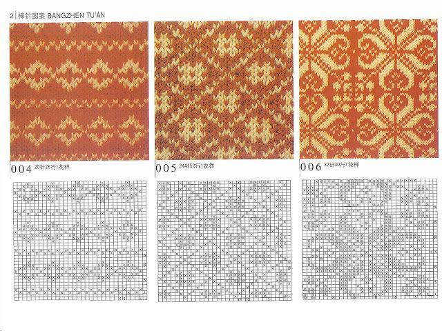 Цветные орнаменты для вязания