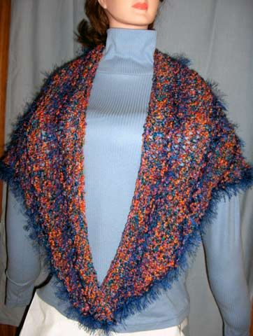 Crochet Triangle Shawl Patterns For Beginners : Beginner Triangle Shawl Knitting Pattern Crochet Pinterest