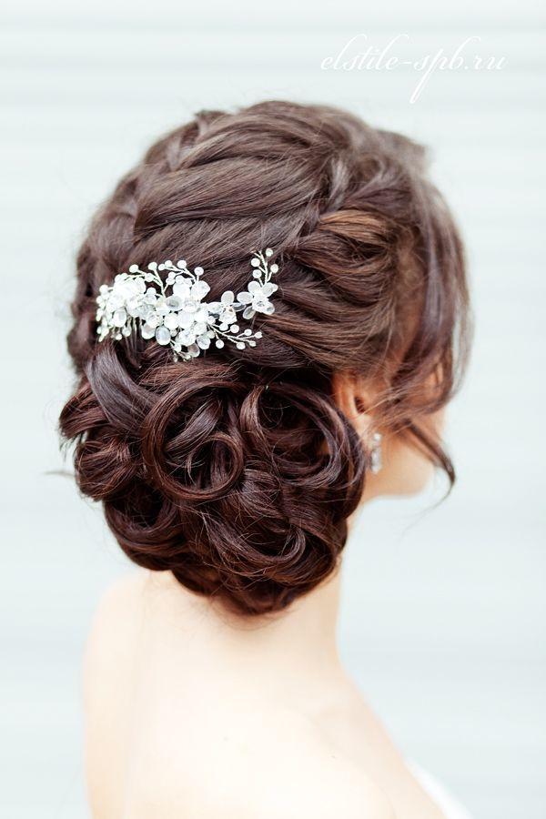 Свадебные прически с косой на средние волосы