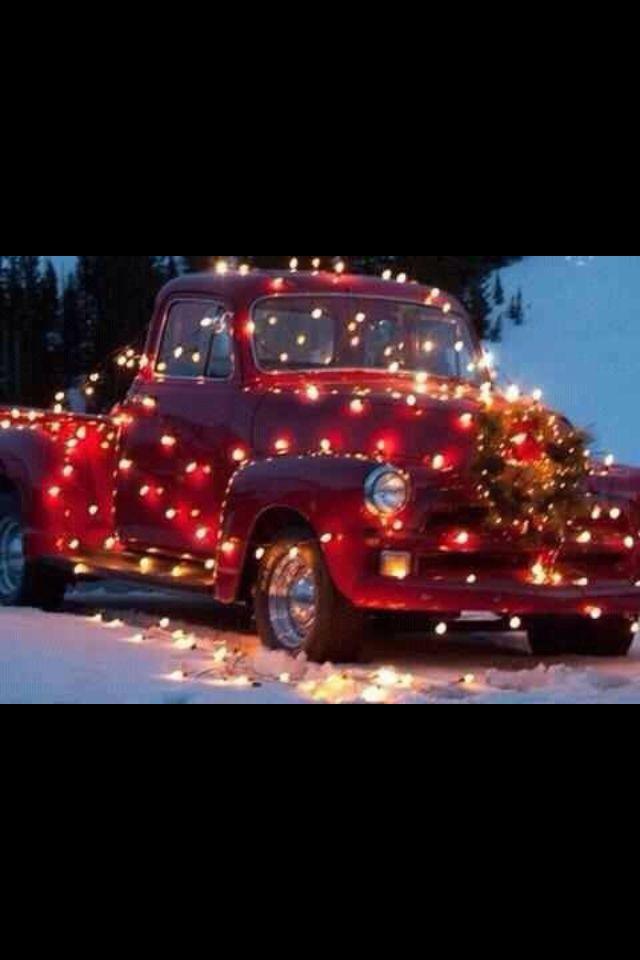 Classic Christmas | Classic Cars & Trucks | Pinterest