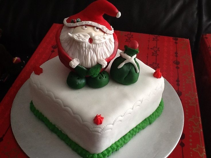 Christmas cake Sugarcraft Pinterest