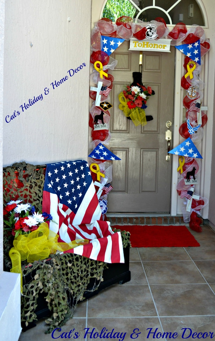 Memorial day decor my door decor more pinterest for Decoration day