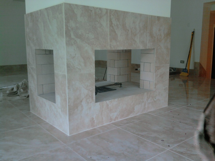 4 sided fireplace full masonry fireplaces pinterest for Four sided fireplace