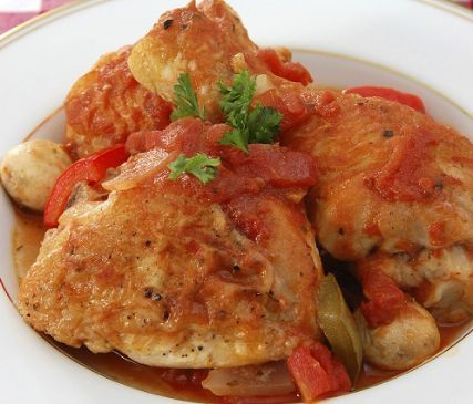 Chicken And Red Wine Sauce Recipe — Dishmaps