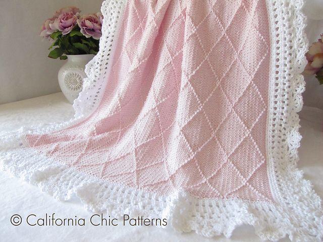 Chic Knitting Patterns : Paris Knit Baby Blanket Pattern #63 pattern by Kyoko - Cali Chic Patt?