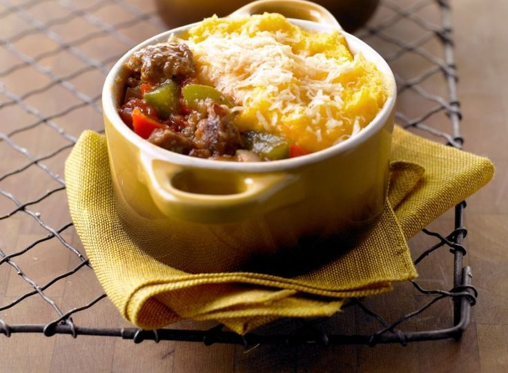 Polenta and Sausage Pie..This classy riff on the cornbread crust makes ...