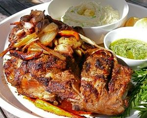 Quick roast leg of lamb with champ and salsa verde: Recipes: Good Food ...