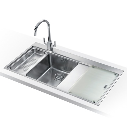 Franke Mythos Stainless Steel Sink : Franke Mythos 1.5 Bowl Silk Stainless Steel Kitchen Sink MMX661 LHD ...