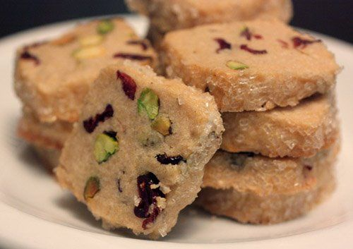 Pistachio Cranberry Icebox Cookies - so festive and colorful!!