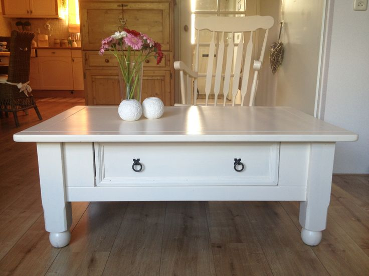 Restyled Mexican coffee table : White Treasures - Country Style Furniu2026