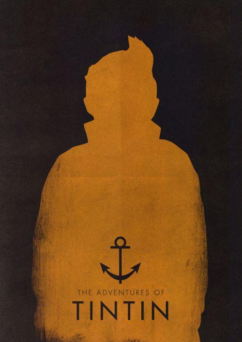 Tintin | minimalist Posters | Pinterest