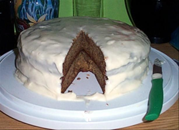 Banana Cake with Bourbon Cream Cheese Frosting - with or without the ...