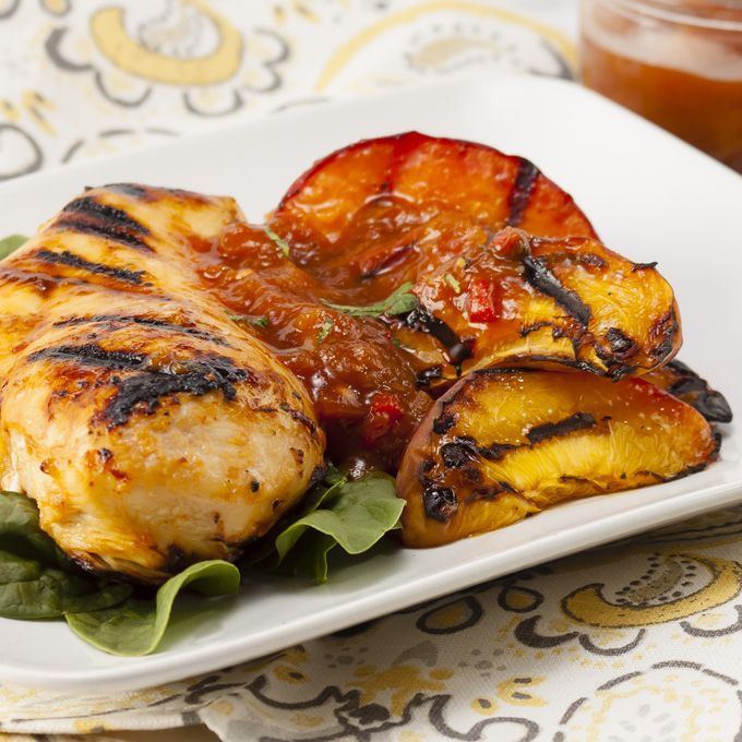 Chipotle Peach Grilled Chicken | Recipe