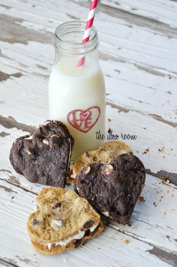 Chocolate Sandwich Heart Cookies | Cookie Jar Favorites | Pinterest