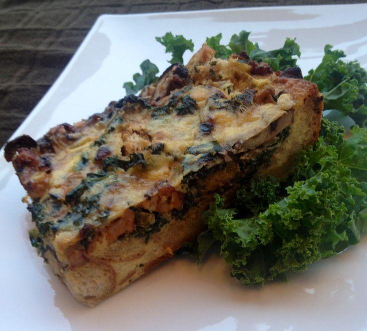 kale and fontina recipe on ef sausage kale cheddar strata sausage kale ...