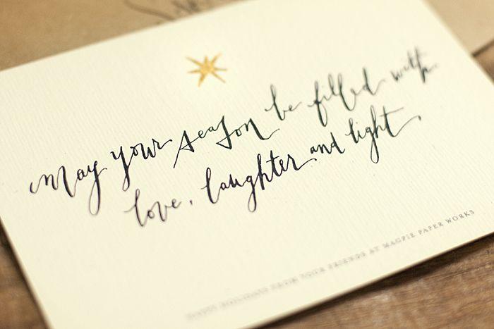 Calligraphy christmas card pinterest