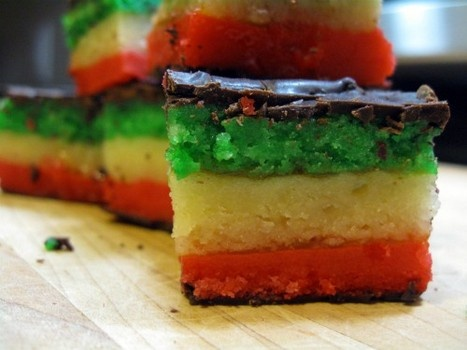 Italian seven layer cookie or rainbow cookie for Christmas