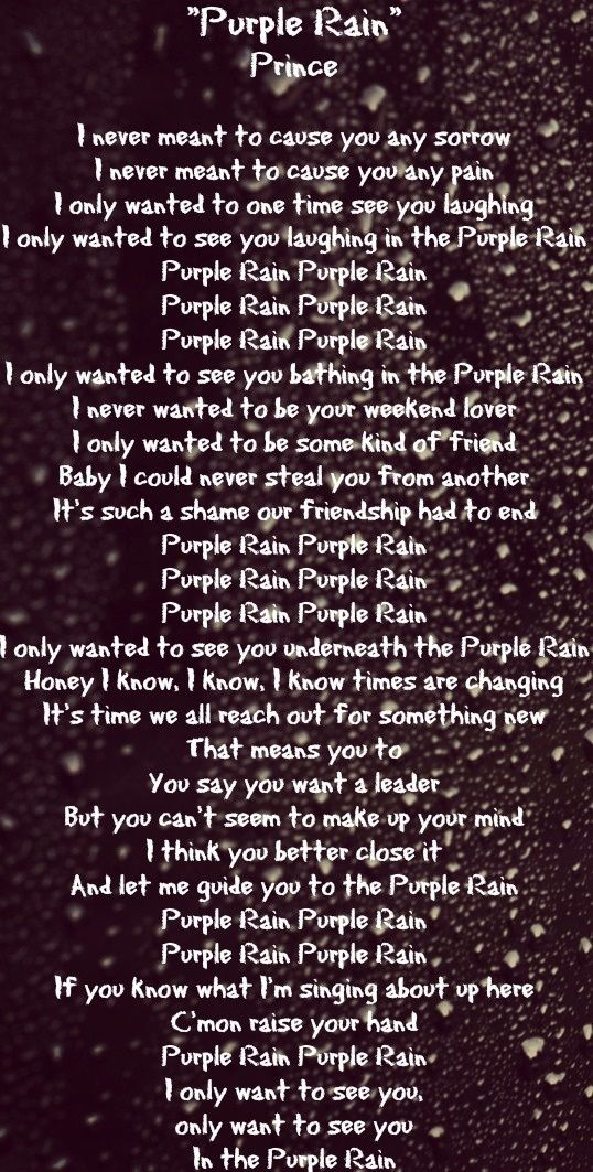 prince purple rain quotes quotesgram. Black Bedroom Furniture Sets. Home Design Ideas