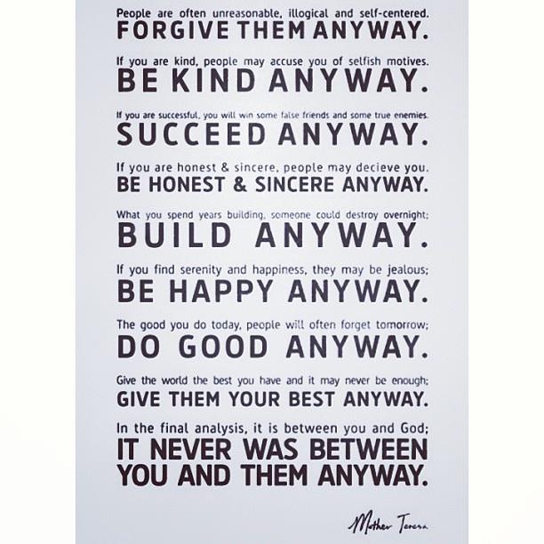 Mother Teresa's wise words