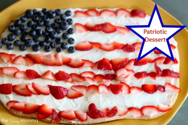 American Flag Fruit Pizza | July 4th Ideas for Families | Pinterest