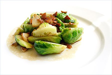 Stir-fried Brussels Sprout Recipe with Dried Sole: dried sole is a ...