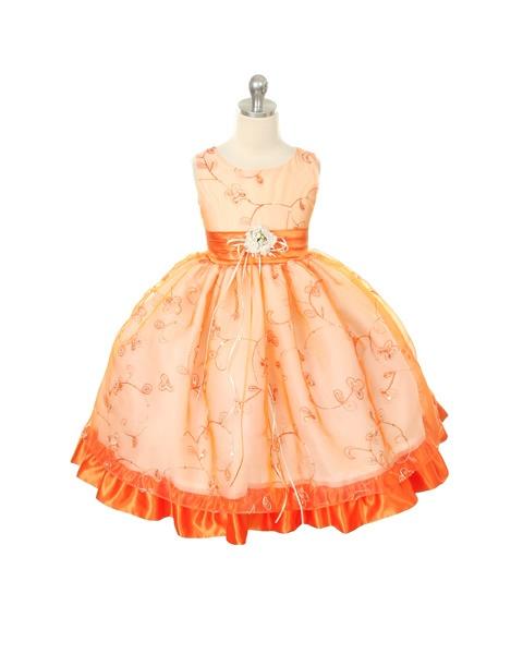 Tea Length Flower Girl Dress Fall Wedding Daydreaming