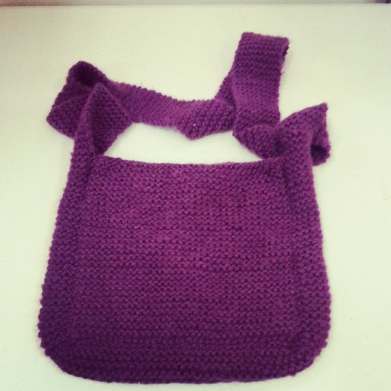 Knit Sling Bag by apadesigns on Etsy, $15.00