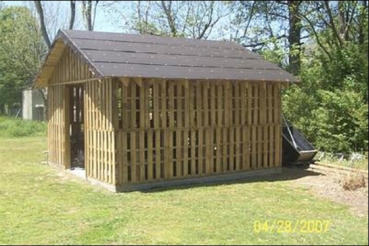 Pallet shed hobby farming pinterest for How to build a pallet building
