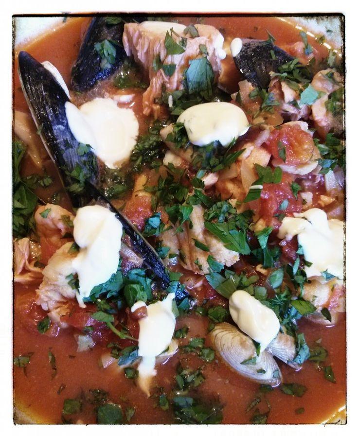 fish & mussel stew with garlic & saffron crème fraiche - See more at ...