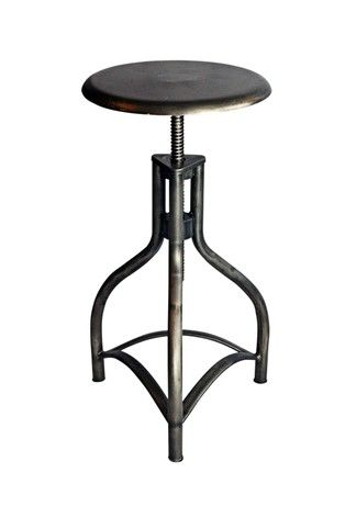 Metal adjustable swivel bar stool home pinterest for High end bar stools swivel