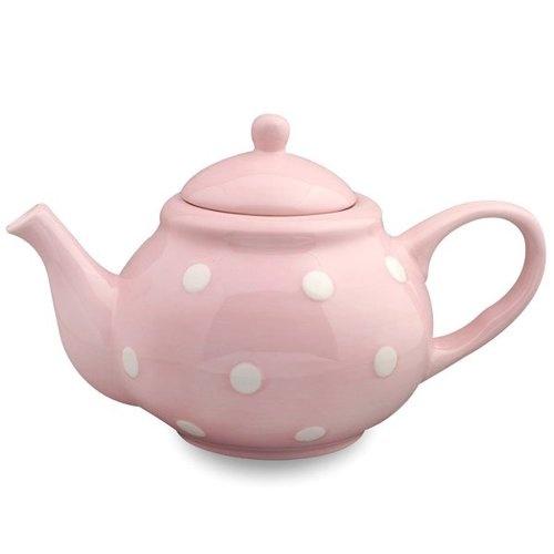 Pink teapot. | Polka dots | Pinterest