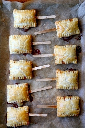 Bite-sized baked brie on a popsicle stick. Does it get any better than ...