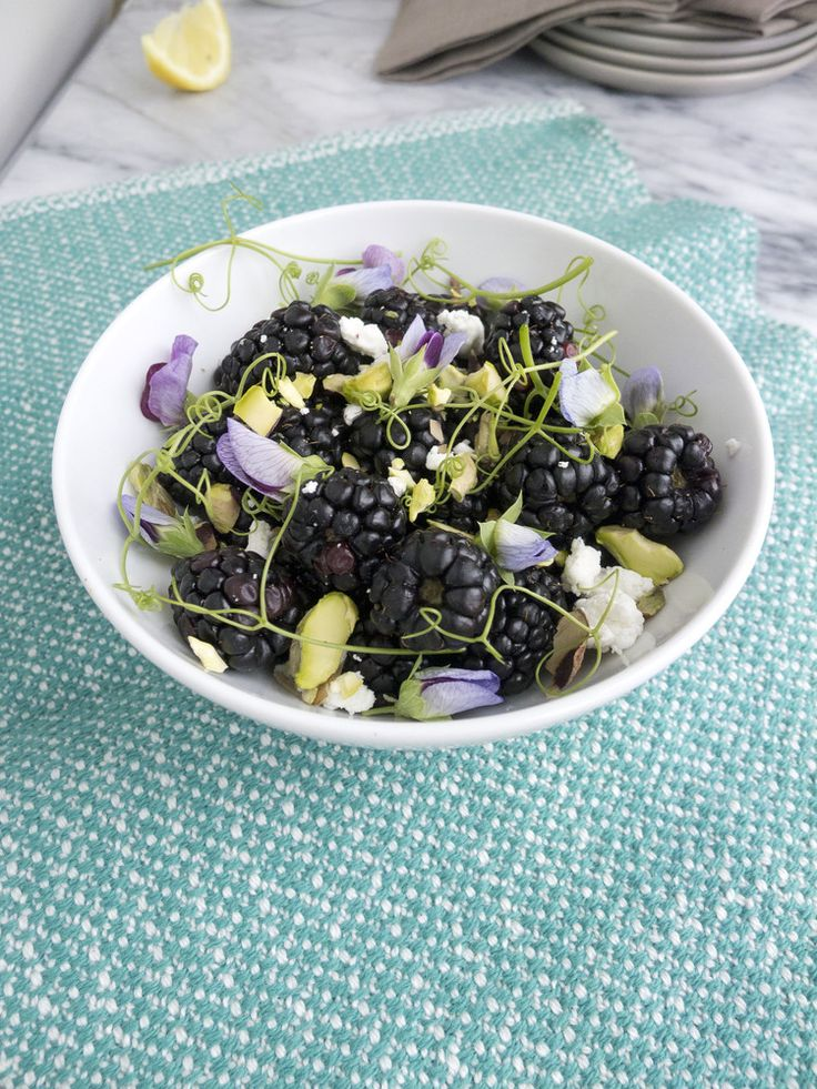 Blackberry Goat Cheese and Pea Shoot Salad — Healthfully Ever After